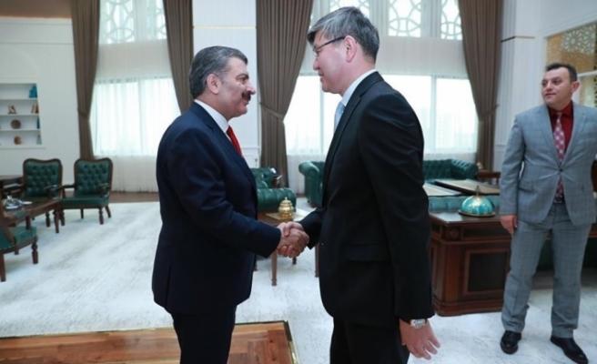 Sağlık Bakanı Kazakistan Sağlık Bakanlığından üst düzey heyeti kabul etti