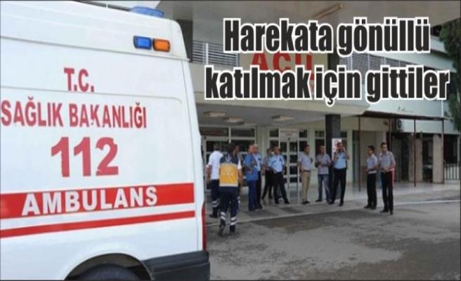 Gönüllü olarak Kilis'e gittiler