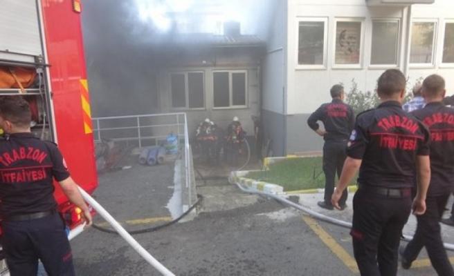 İl Sağlık Müdürlüğünde korkutan yangın