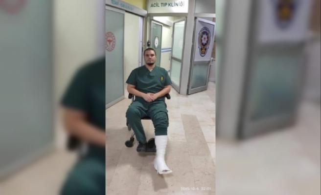 Öncelik isteyen hasta yakınları doktora saldırdı