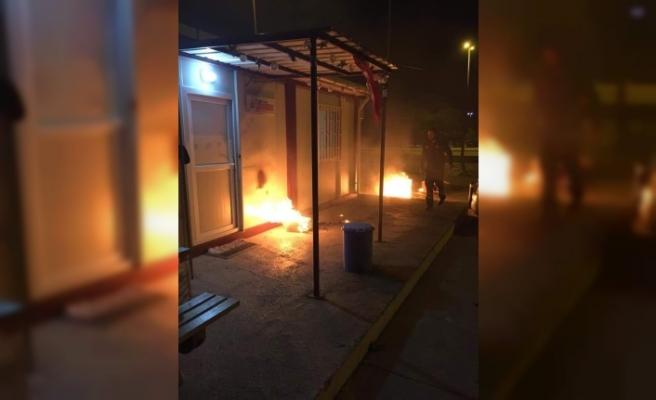 112 İstasyonuna Molotof Kokteyliyle Saldırı