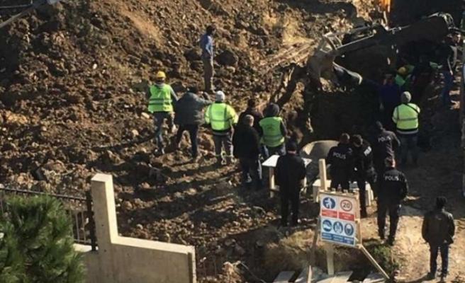Lüleburgaz'da hastane inşaatında toprak kayması: 2 yaralı