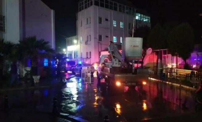 Milas'ta hastanede yangın