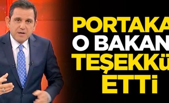 Fatih Portakal, Bakan Koca'ya Teşekkür Etti