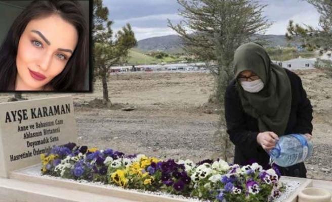 Anneler Günü'nde, sağlıkçı kızının mezarını ziyaret etti