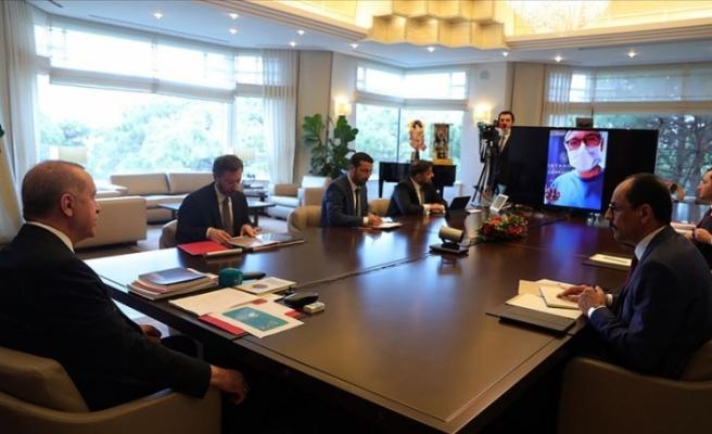 Erdoğan Cerrahpaşa Tıp Fakültesi'ne video konferansla bağlandı