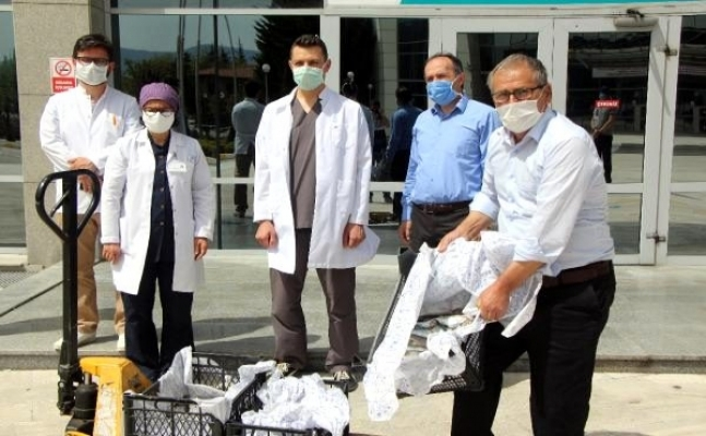 Sağlık çalışanları için hastaneye 200 alabalık getirdi