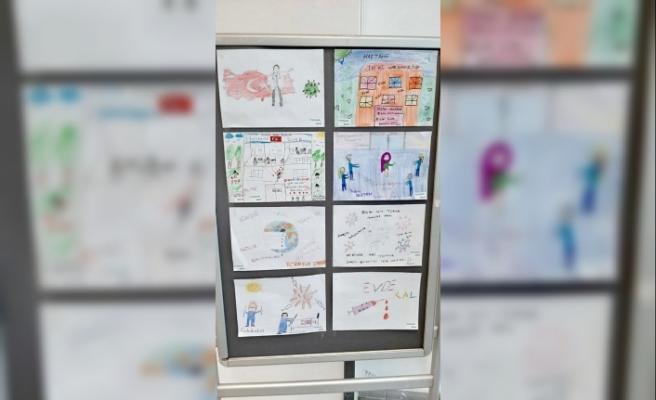 Sinop'ta minik öğrencilerden hemşirelere teşekkür mektubu