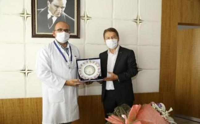 ERÜ Tıp Fakültesi Hastanelerinde görev teslim töreni