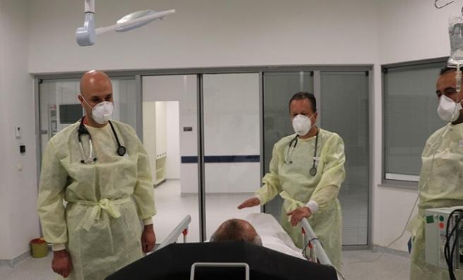 Ankara Şehir Hastanesi acil servisinde corona virüs mücadelesi