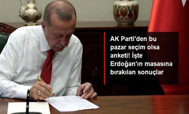 AK Parti'nin yaptırdığı ankete göre; Cumhurbaşkanı Erdoğan'ın oy oranı