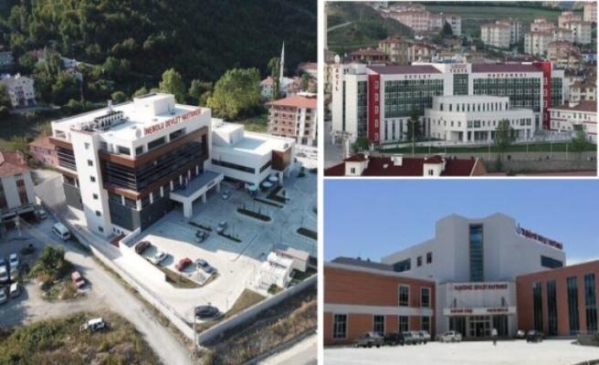 Kastamonu'da 3 ilçe hastanesi, pandemi hastanesi yapıldı