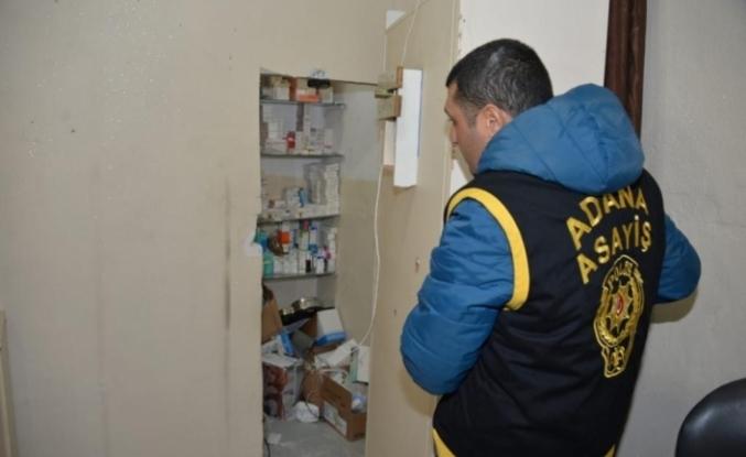 Adana polisi  gizli bölmeli kaçak hastane ortaya çıkardı