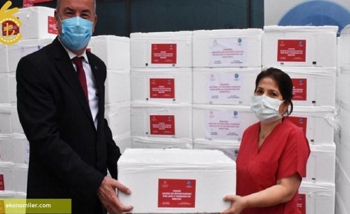 20 Ton Balık Sağlık Çalışanlarına Dağıtıldı