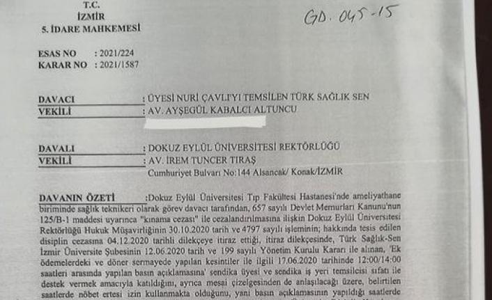Mahkeme, Sağlıkçıya Verilen Cezayı İptal Etti